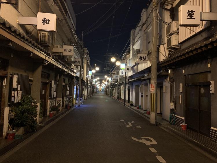 旧遊郭が並ぶ色街「飛田新地」