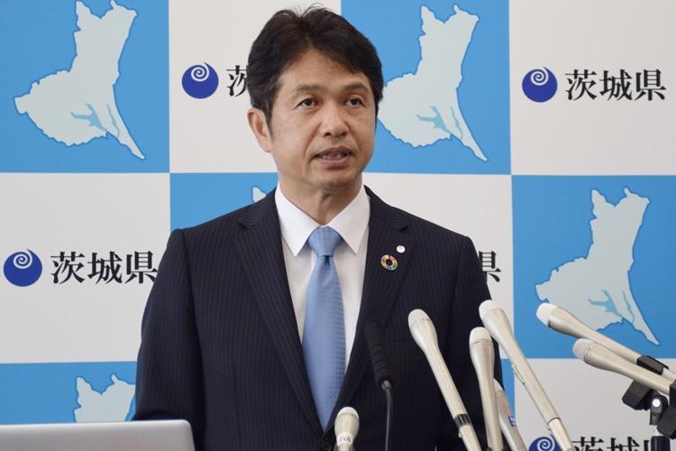 有識者案を却下した大井川和彦・茨城県知事(時事通信フォト)