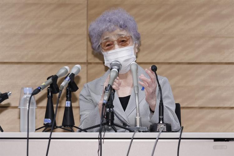 9日の会見では滋さんへの思いや、即時一時帰国を求め続けることを語った(撮影/関谷知幸)