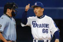 中日・落合博満監督(当時)は毎年予想のつかない開幕投手を選出していた(時事通信フォト)