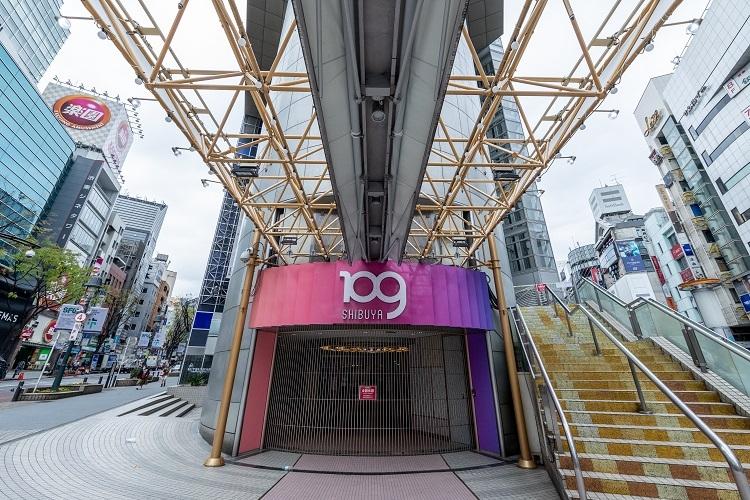 新型コロナウイルス感染拡大に関する緊急事態宣言を受け渋谷109も4月8日から5月末まで休館した(Sipa USA/時事通信フォト)