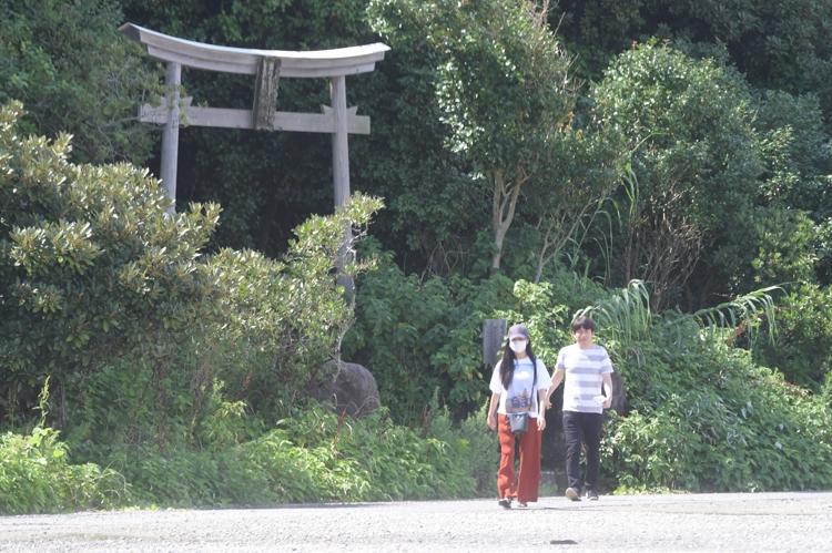 初夏の福岡を楽しんでいる2人