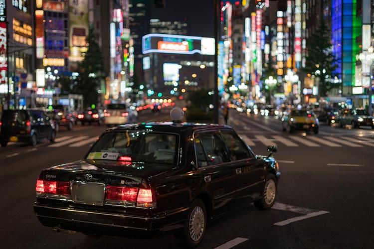 新宿、とくに歌舞伎町はタクシー利用者が多い街だった