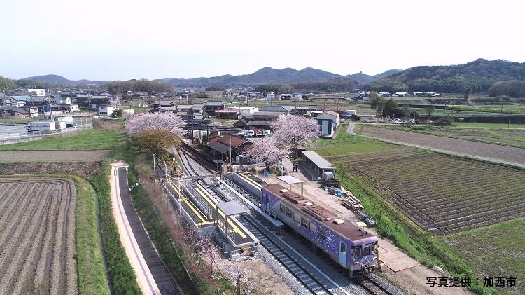 北条鉄道・法華口駅の行き違い設備