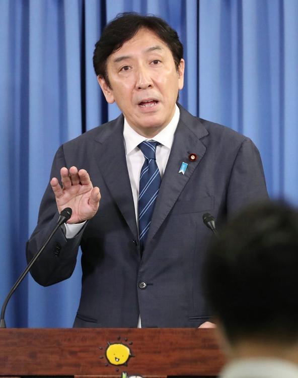 略式起訴された菅原一秀・元経産相(時事通信フォト)