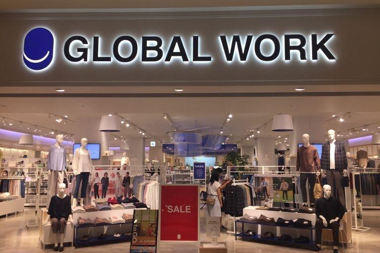 郊外のショッピングモールなどにも多く出店する「GLOBAL WORK」