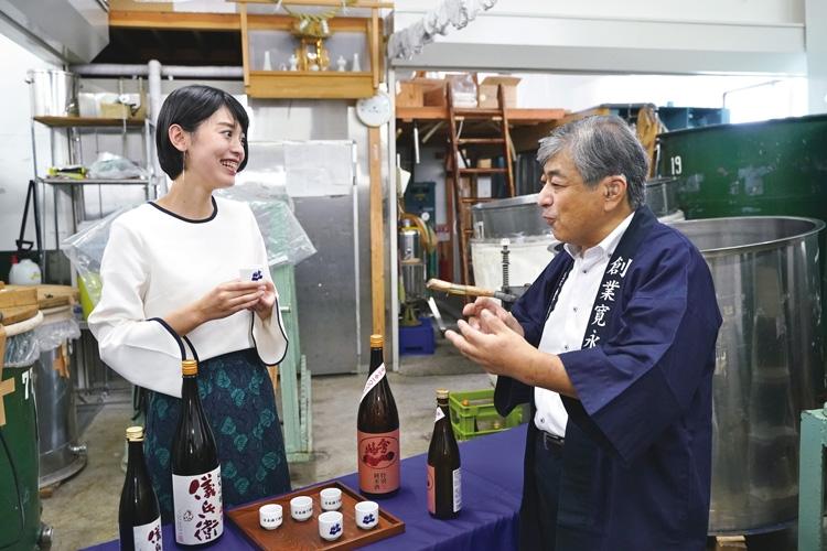 1643年創業で福島最古の酒蔵を訪れた福島中央テレビの永井アナ