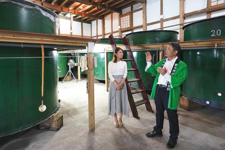 テレビ岩手の中島あすかアナが1917年創業の蔵元に訪問