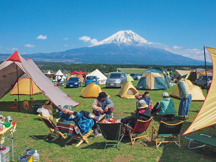 富士山が見えるキャンプ場も