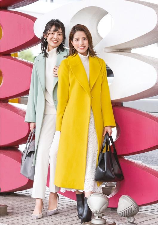 新美有加(左)と永島優美アナ
