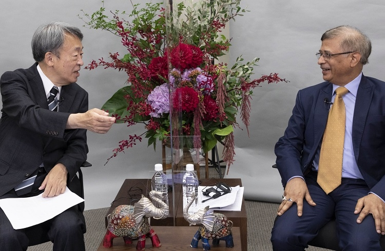 池上彰氏がインド大使と対談