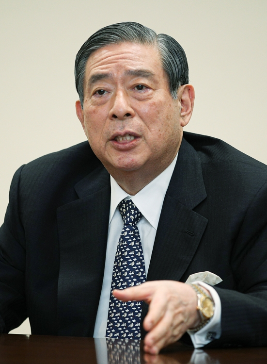 菅政権における看板政策を提唱するひとり北尾吉孝・SBIホールディングス社長(時事通信フォト)