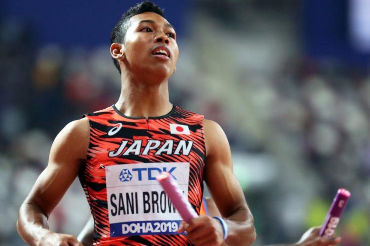 100m日本記録保持者のサニブラウン・ハキーム(EPA=時事通信フォト)