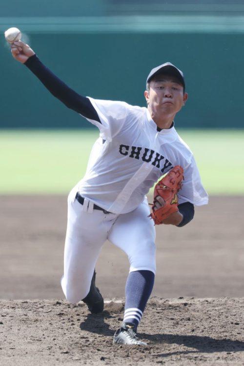 高校ナンバーワン投手、中京大中京の高橋宏斗投手(時事通信フォト)