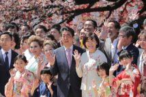 桜を見る会問題が追及されて以降、10か月にも及びテレビの放送内容が記録されていたという(時事通信フォト)