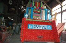 毎年のおはら祭で運行されるため、出番を車庫で待つ鹿児島市電の花電車