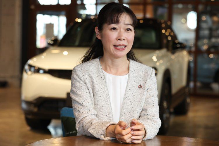 マツダ「MX-30」の開発責任者、竹内都美子さん(商品本部主査)