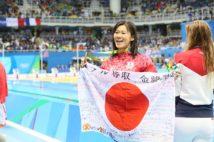 リオ五輪で金メダルを獲得。「表彰式のとき、日本代表チームが日の丸を振って祝福してくれたのを見て、涙が出ました」(金森)