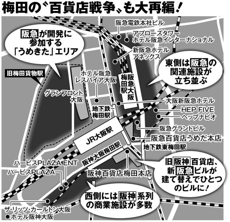 """梅田の""""百貨店戦争""""も大再編"""