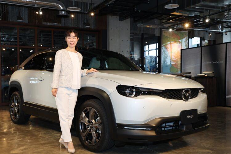 マツダの新型SUV「MX-30」の開発責任者、竹内都美子さん