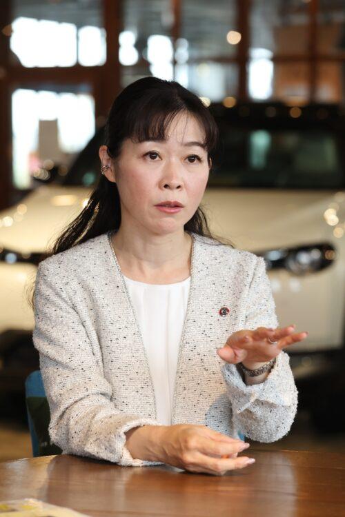 マツダの商品本部で初の女性主査となった竹内都美子さん