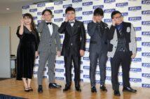 左から山崎ケイ(相席スタート)、稲田直樹(アインシュタイン)、橋本直(銀シャリ)、ミキ(亜生、昴生)