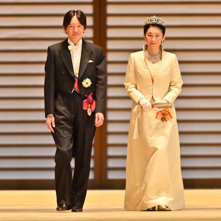 「立皇嗣の礼」を終えられた秋篠宮ご夫妻(11月8日、東京・千代田区)