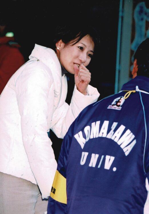 2008年の箱根駅伝では往路で早大が優勝するも、復路で駒澤大が逆転。馬場が駒澤大の監督に取材した(写真/ロケットパンチ)