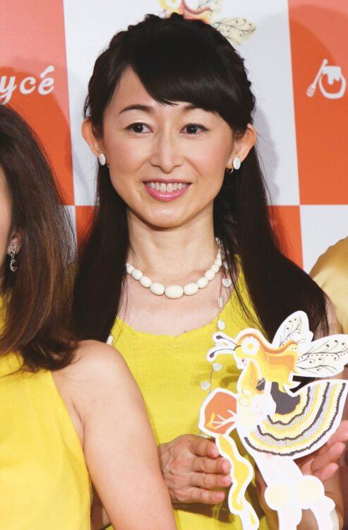 元日本テレビアナ・松本志のぶ(時事通信フォト)