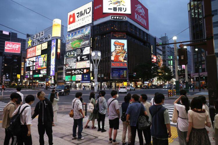 北海道では新型コロナウイルスの感染者数が増加している(時事通信フォト)