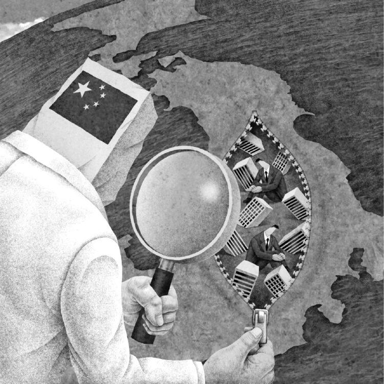 大前研一氏が、今後、日本が目指すべき道について考察(イラスト/井川泰年)