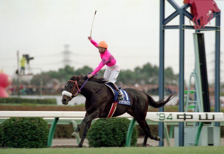 1994年には菊花賞を2位と7馬身差で勝利したナリタブライアン(時事通信フォト)