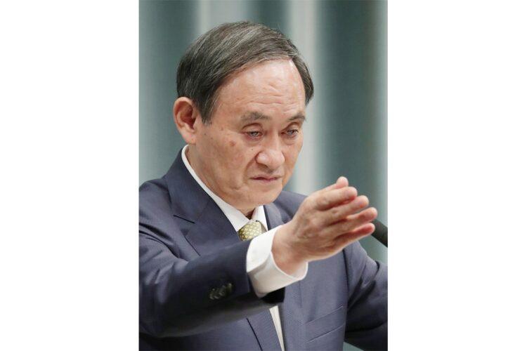菅義偉首相にも問題発覚か(時事通信フォト)