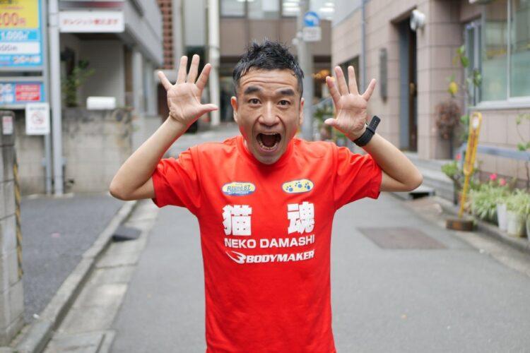東京五輪を目指す猫ひろし