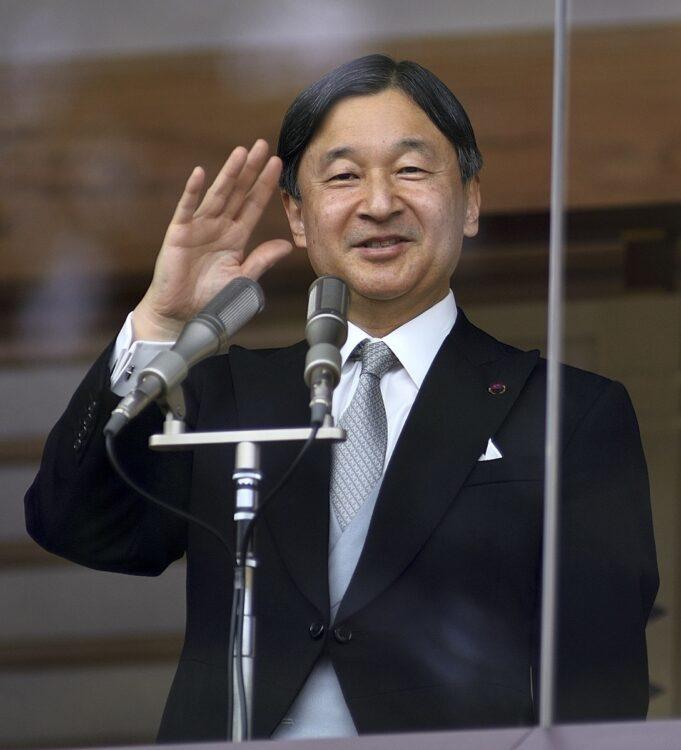 2020年一般参賀では、両陛下並んでお姿を見せられた(2020年1月、東京・千代田区)