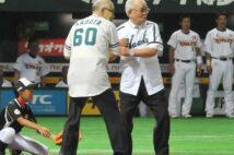 野村氏と門田氏の名コンビは最後までファンを魅了した(時事)