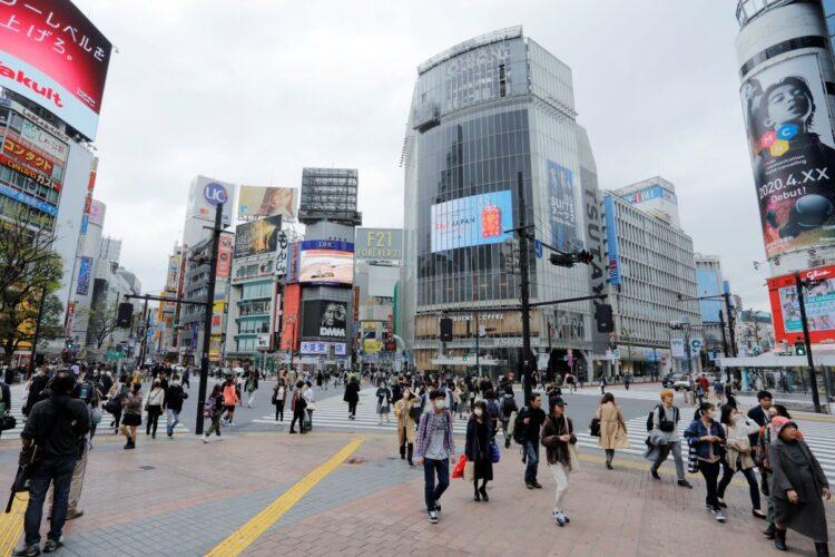 渋谷など繁華街の人出増減が連日話題に(撮影/内海裕之)