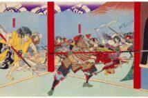 明治の浮世絵師・楊斎延一が描いた「本能寺焼討之図」(共同)