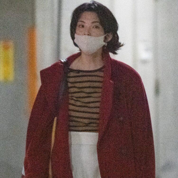 カジュアルな装いの田中麗奈