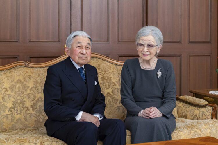仙洞仮御所でおこもり生活が続く(2019年12月、東京・港区/宮内庁提供)