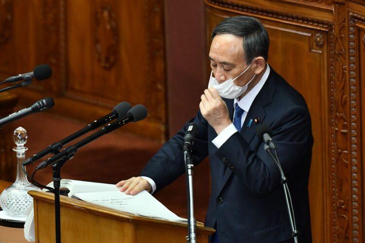 1月18日の施政方針演説も準備を重ねて臨んだが…(写真/AFP=時事)