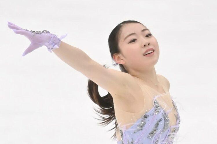 紀平梨花は早稲田大学へ。写真は2020年の全日本(時事通信フォト)