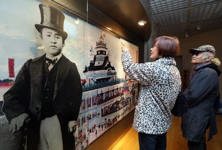新紙幣に決まった当時、2019年の東京都北区・渋沢史料館(時事通信フォト)