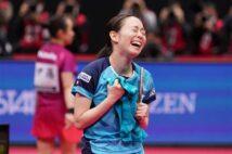 石川、涙の女王返り咲き「あきらめない気持ちが勝因」 全日本卓球
