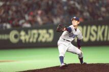 新人時代の中日・岩瀬仁紀は中継ぎとしてリーグ最多の65試合に登板(1999年。時事通信フォト)