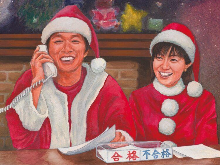 明石家さんまは『明石家サンタ』で長年、八木亜希子アナと共演
