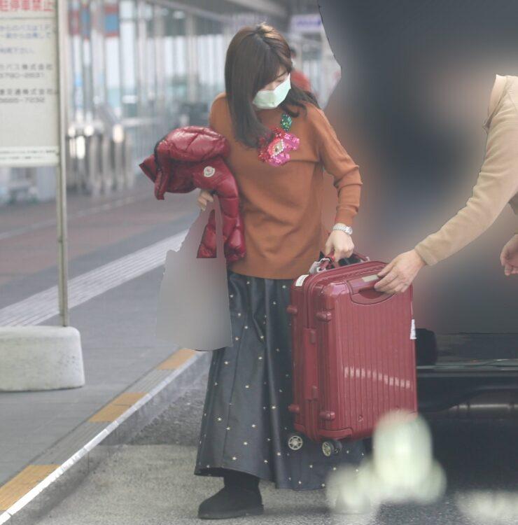 空港へと着いた福原