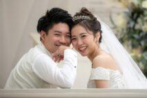 ステージ4の大腸がん診断を受けた後に結婚式を挙げた遠藤和さん(2019年12月)