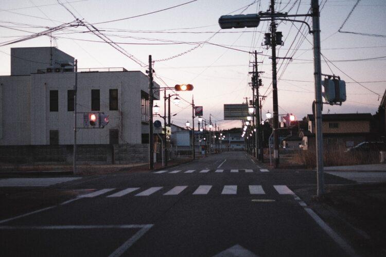2021年2月18日の福島・浪江町。JR常磐線「浪江駅」周辺