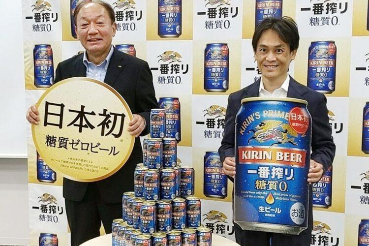 ビールカテゴリーで初の糖質ゼロを実現させたキリン「一番搾り糖質ゼロ」(時事通信フォト)